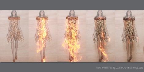 Woman Wear Fire Present Board2
