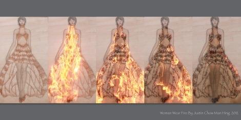 Woman Wear Fire Present Board3